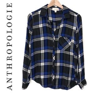 Anthropologie Cloth & Stone Plaid Button Down